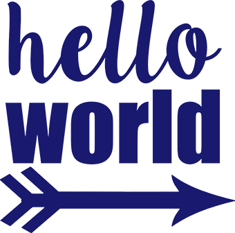 Hello World Arrow - Navy - Gigi and Max