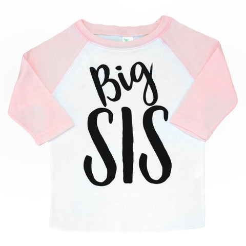 Light Pink Big SIS Raglan - Gigi and Max