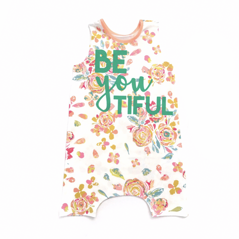 BeYOUtiful Floral Tank Top and Shorts Romper