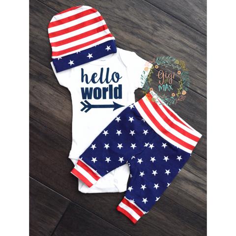 Stars and Stripes Newborn Outfit