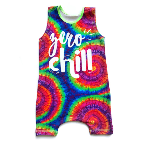 Zero Chill Tie Dye Tank Top and Shorts Romper