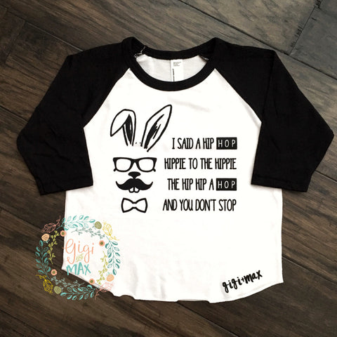 Easter Hip Hop Raglan - black sleeves