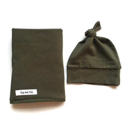 "Swaddle Olive SIMPLE blanket set 34"" x 34"""