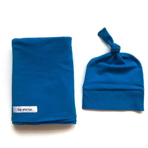 "Swaddle Ocean Blue SIMPLE blanket set 34"" x 34"""