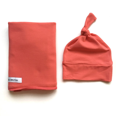 "Swaddle Coral SIMPLE blanket set 34"" x 34"""
