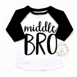 Middle BRO Raglan - Gigi and Max