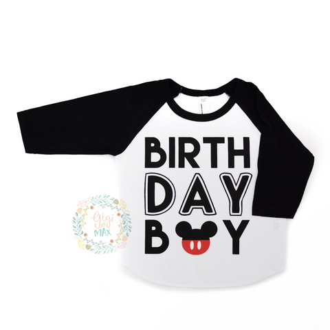 Mickey Birthday Raglan