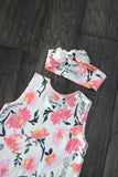 Watercolor Floral Tank Top Romper