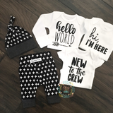 Black and White Cross Theme Newborn Outfit