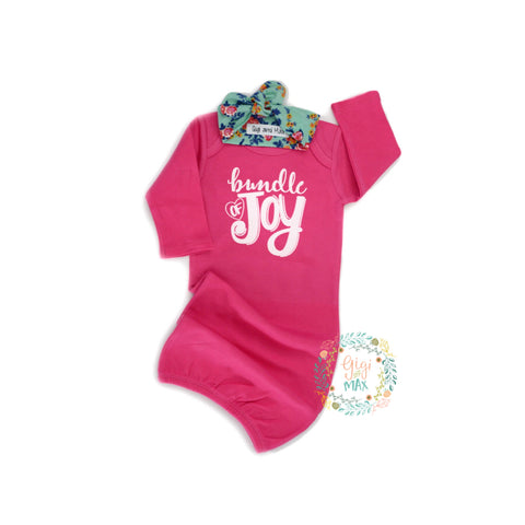 Hot Pink Bundle of Joy Gown - Gigi and Max