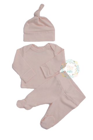 Super soft Newborn going home set -  Light Pink
