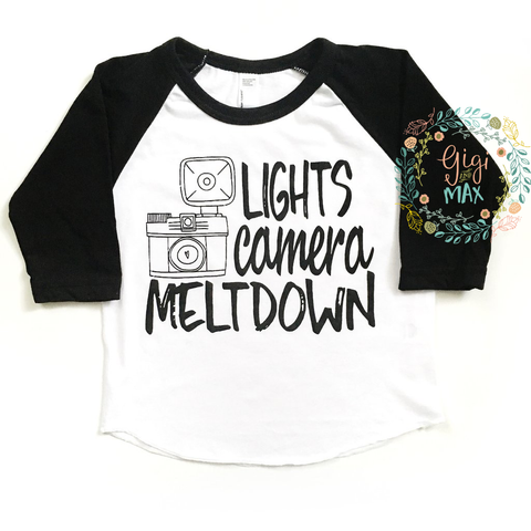 Lights Camera Meltdown Tee