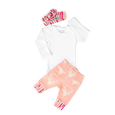 Light Pink Deer Headband - Long Sleeve - Gigi and Max