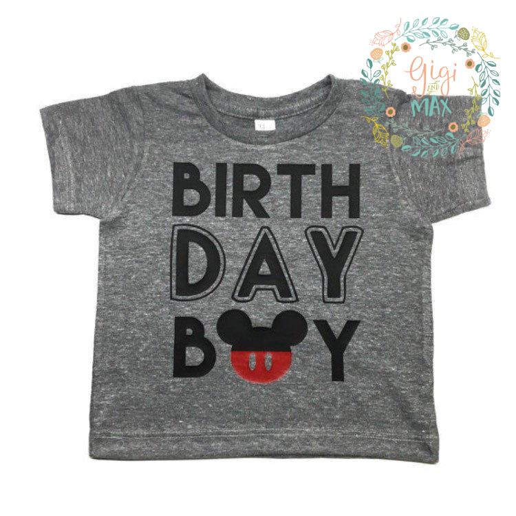 Mickey Birthday Tee - Gigi and Max