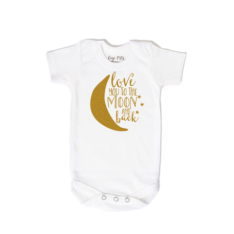 Moon gold shimmer - short sleeve - Gigi and Max