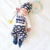 Navy Aqua & Red Anchor Newborn Outfit