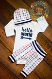 Navy Aqua & Red Anchor Newborn Outfit - Gigi and Max