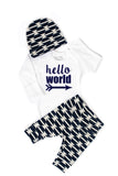 Navy Geometric Newborn Outfit - Gigi and Max