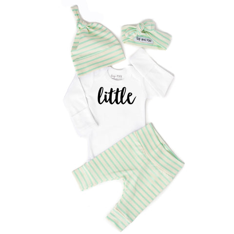 Gender Neutral Little Mint stripe - Gigi and Max
