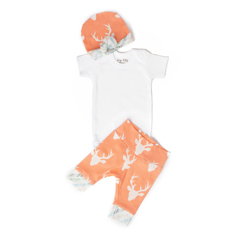 Peach Deer - Short Sleeve - Gigi and Max