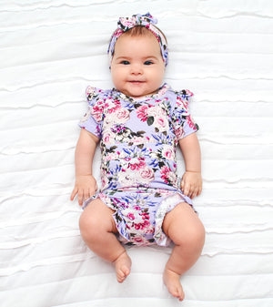 Emerson Floral FLUTTER BODYSUIT - Gigi and Max
