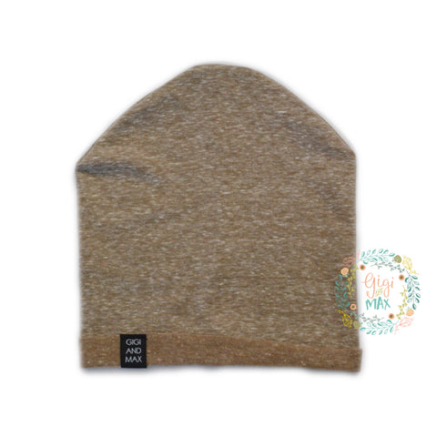 Light Brown Beanie ** Please read sizing details in description **