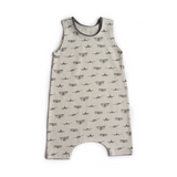Plane tank shorts stretchy neck romper - Gigi and Max