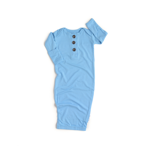 Baby Blue Button Gown - Gigi and Max