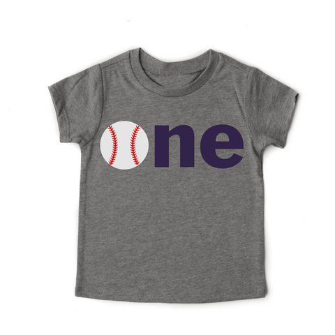 Baseball ONE Birthday Tee - Gigi and Max
