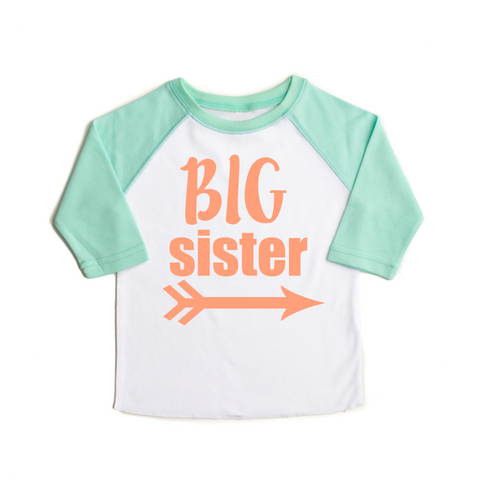 Mint Big Sister Raglan - Gigi and Max