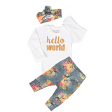 Bloom Floral Hello World Newborn Outfit - Gigi and Max