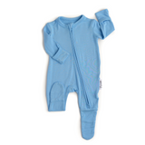 Baby Blue Newborn Footed Zip - Gigi and Max
