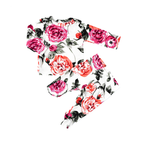 Camila Floral Two Piece Set Handmade (headband sold separately) - Gigi and Max