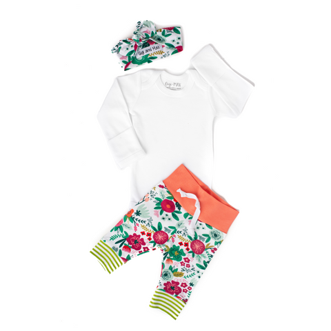 Coral Floral - Long Sleeve - Gigi and Max