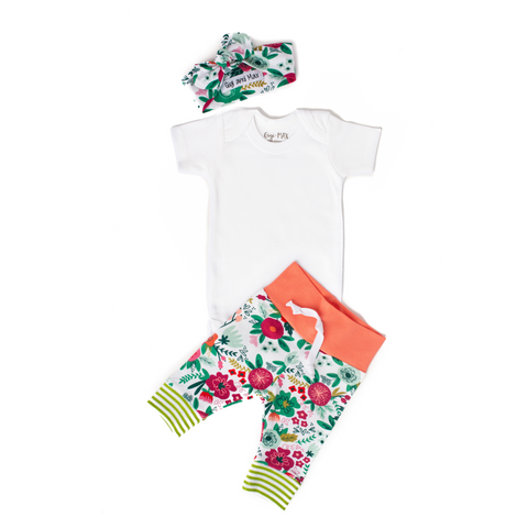 Coral Floral - Short Sleeve - Gigi and Max