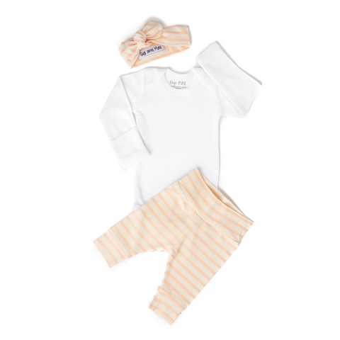 Coral Stripe - Long Sleeve - Gigi and Max