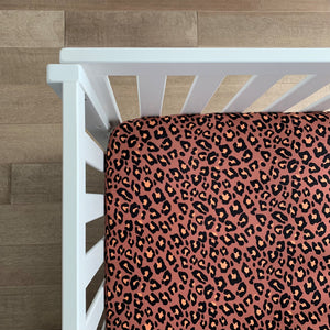 Sienna Leopard Crib Sheet - Gigi and Max