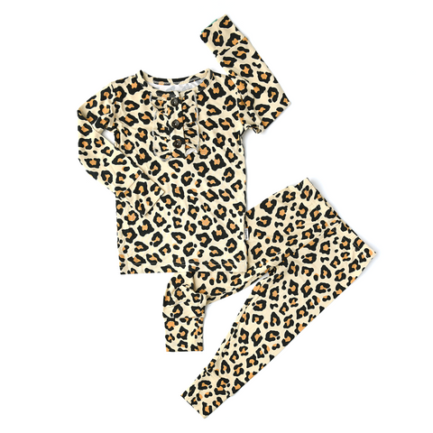 Gia Leopard Ruffle Two Piece - Gigi and Max