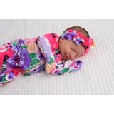 Emilia Floral Newborn Footed Ruffle Zip - Gigi and Max