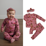Everly Floral Two Piece Set Handmade (headband sold separately) - Gigi and Max