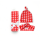 Frost Red Gingham SWADDLE - Gigi and Max