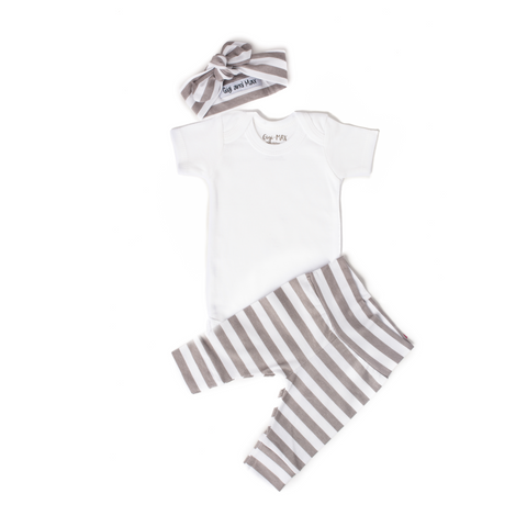 Gray Stripe - Short Sleeve - Gigi and Max