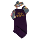 Hello Gorgeous Handmade Plum and Floral gown - Purple - Gigi and Max