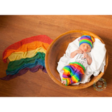 Gender Neutral Worth the Wait set rainbow stripe - Gigi and Max
