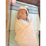 "Pink Moon and Stars Swaddle - 34"" x 34"" - Gigi and Max"