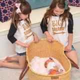 Big sister Raglan - black and gold - Gigi and Max