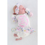 NEW skirt Isn't she Lovely Ella Cream Floral Newborn Outfit - Gigi and Max