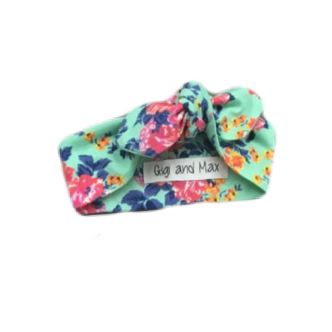 Teal floral headband - matches Purple beYOUtiful romper
