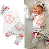 Watercolor Floral Isn't she Lovely Newborn Outfit