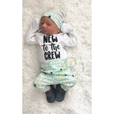 New to the Crew Tiny Mountains Newborn Outfit - Gigi and Max
